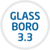 Boro 3.3 or Borosilicate 3.3 is a type of glass having very low coefficient of thermal expansion