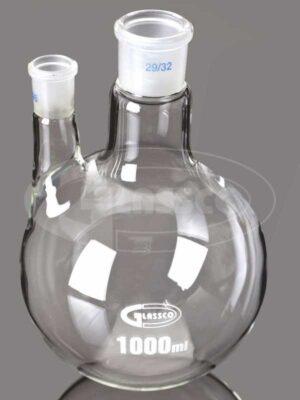 flasks, round bottom, 2 Neck Parallel