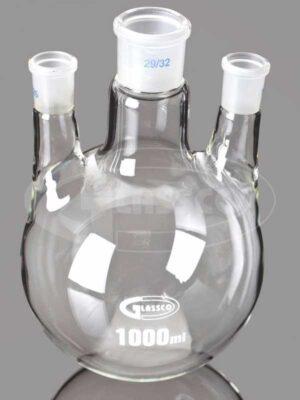 Flasks, Round Bot tom, 3 Neck Parallel