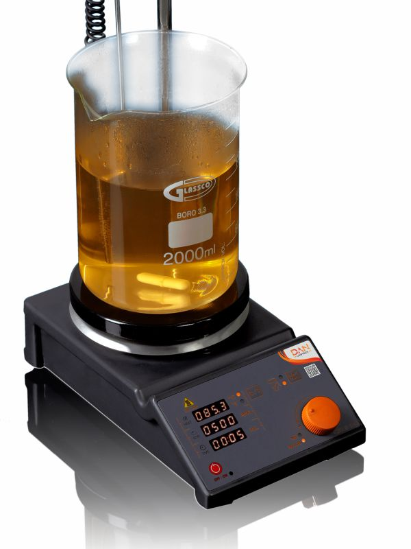 CERAMIC COATED STAINLESS STEEL TOP Magnetic Stirrer with Hotplate - Digital 900DNAG