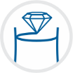 diamond graduated line