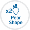 Pear Shape with two neck