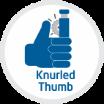 knurled thumb