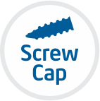 A screw cap or closure is a common type of closure for bottles, jars, and tubes & has a screw which screwed on and off of a finish. on a container