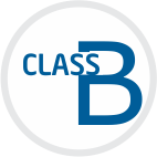 Class B volumetric glassware have lesser accuracy with almost double the tolerance as compare to Class A volumetric glassware.