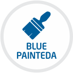 blue painted
