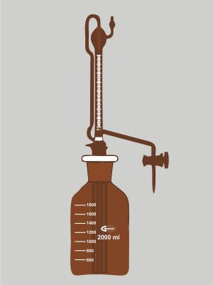 automatic burette amber zero with glass stopcock