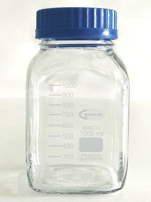 Bottle, Reagent, Square Type, Wide Mouth, Graduated 274.209.03