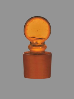 Stopper, Amber, Solid Penny Head 012.278.02