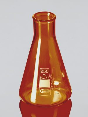 Flask, Amber, Conical, Graduated, (Erlenmeyer) Narrow Mouth, ASTM E-438, ISO 1773 231.519.03