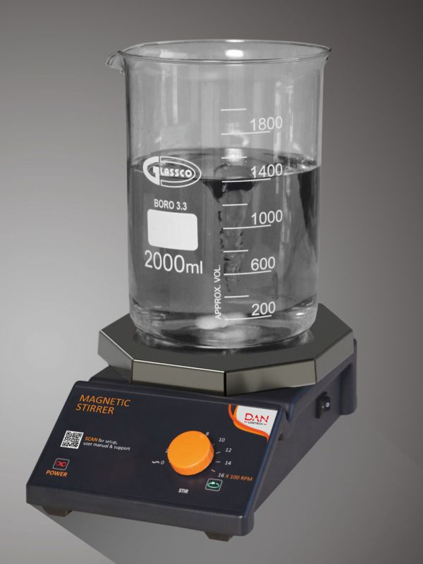 STAINLESS STEEL TOP Magnetic Stirrer - Analog Octagon Base 725DNAG